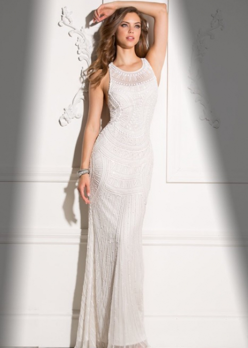 Party Dress Scala 48714-ivory