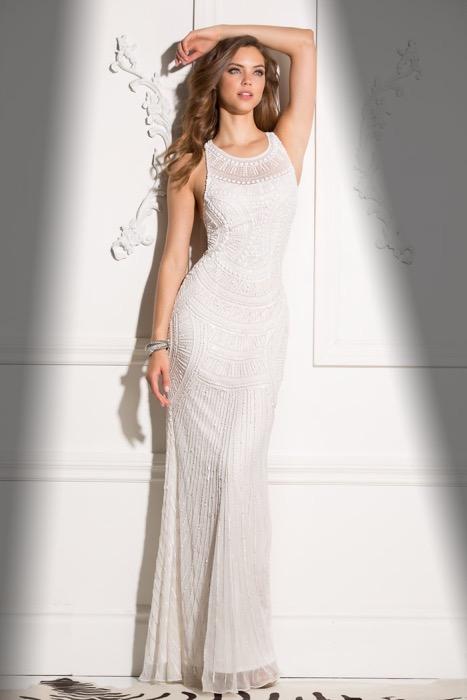 Party Dress Scala 48714-ivory